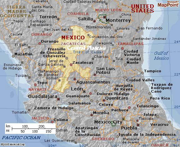 Plateau+of+mexico+map