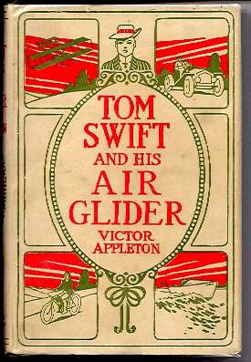 TOM SWIFT AND HIS AIR GLIDER Victor Appleton 1912 HC #12 Glossy Frontispiece - H